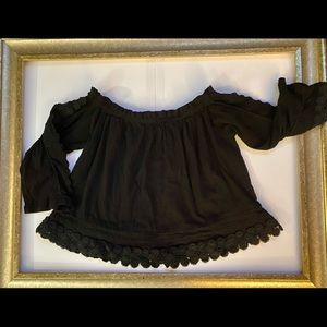 Top Shop Scalloped Strapless Shirt Size US 6